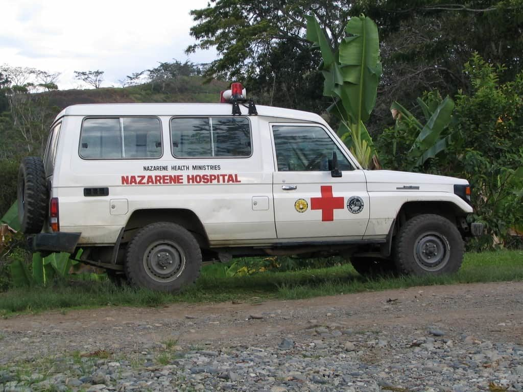 Nazarene Hospital ambulance