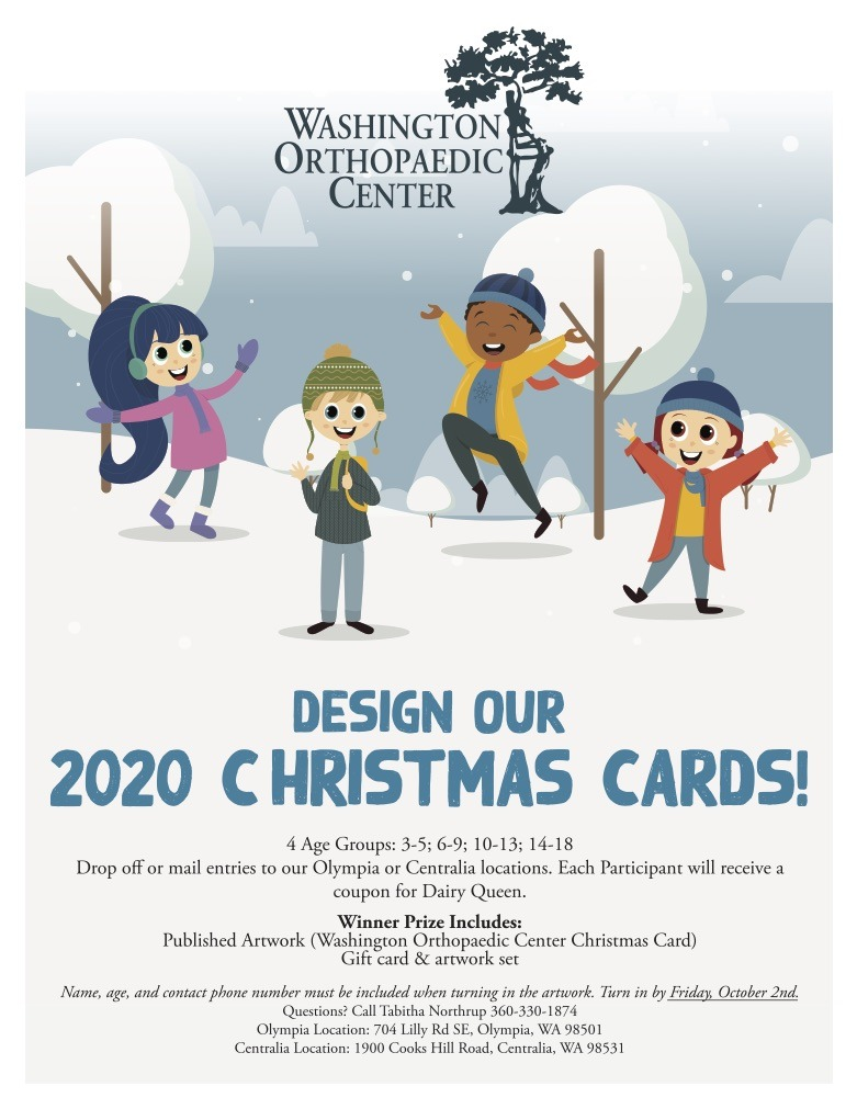 2020 Christmas Card Design Contest   Washington Orthopaedic Center